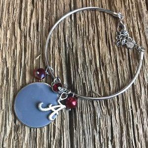 Jewelry - Alabama jewelry and keychain set, Roll Tide
